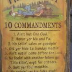 The Hillbilly 10 Commandments