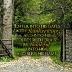Moving Beyond the Gates of Thanksgiving