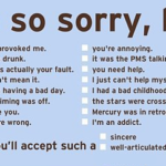 The Art of an Apology