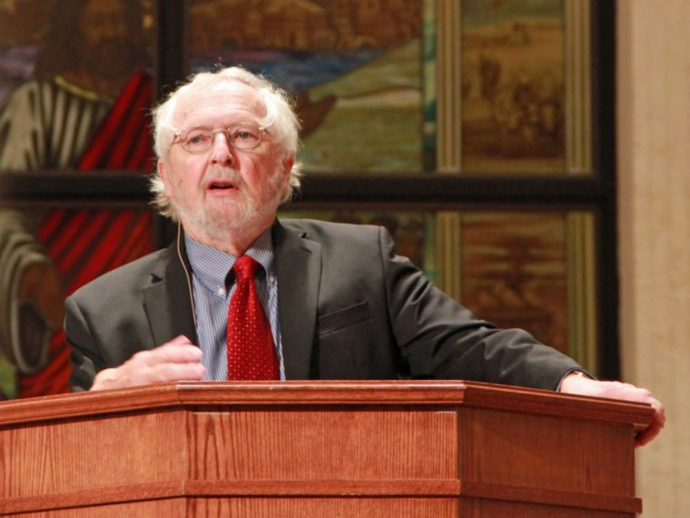 image of george marsden lecturing on mere christianity
